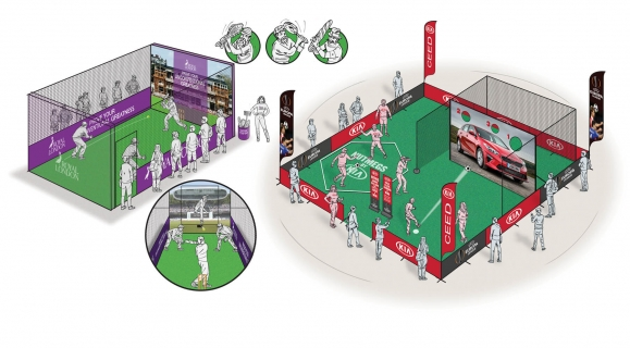 Royal London - Wacky Cricket Experiential. Kia & Champions League Experiential