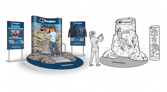 Berghaus - Shopping Mall Augmented Reality Experience & Photo Opportunity
